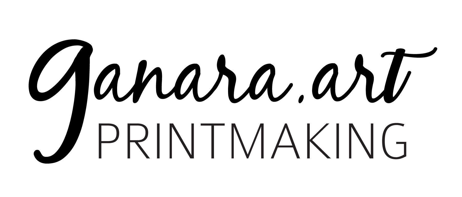 logo ganara printmaking